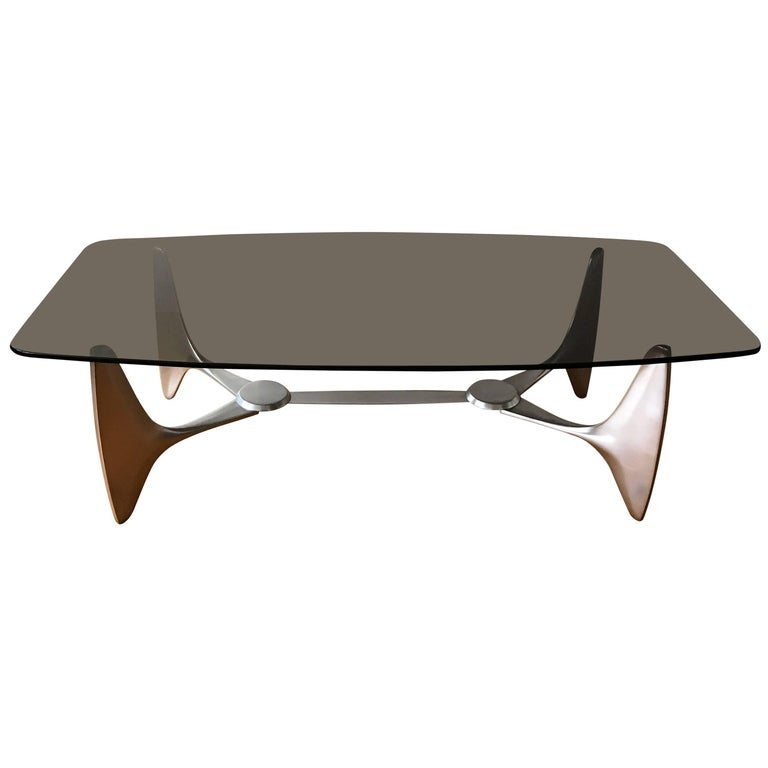 Monumental Coffee Table by Knut Hesterberg for Ronald Schmitt, 1970s, Germany