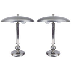 Pair of Czech Functionalism Lamps, Architect Frantisek Anyz, Original Condition