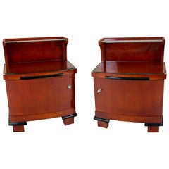 Pair of Art Deco Bed-Side Tables