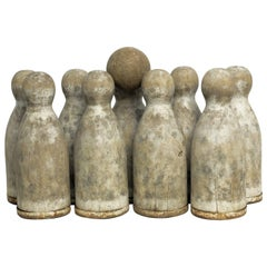 Ninepins Wooden Set with Ball, France, circa 1900