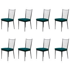 Set of Eight Colette Gueden Attributed Dining Chairs