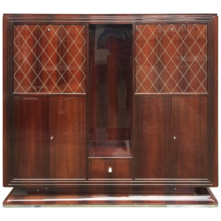 Cabinet/Bar in Mahogany, Art Deco Period, circa 1930