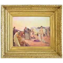 "Oil Painting titled ""The Slave Merchant"" by Ottto Pilny, Signed"
