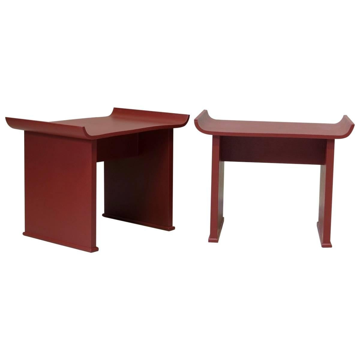 Pair of Pagoda Style Side Tables, circa 1950s