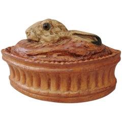 French Trompe L'oeil Porcelain Rabbit Pâté Tureen Pillivuyt Mehun