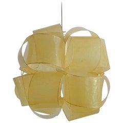 Italian Fiberglass Pendant Lamp by Enrico Botta, 1970