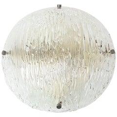 1 of 2 Venini Ceiling Lights Attributed to Carlo Scarpa for Venini, 1950s