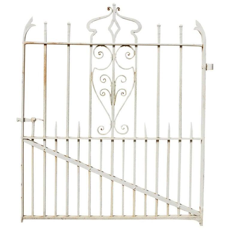 19th Century Wrought Iron Garden Gate