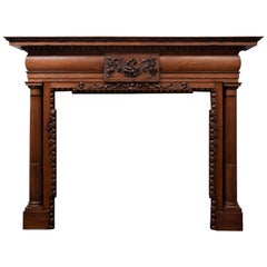 Antique Oak Mantelpiece