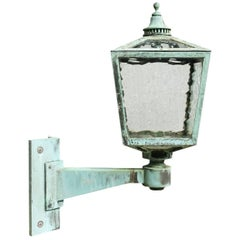Large Antique Bronze Exterior Wall Light, circa 1910