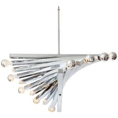 Chandelier, by Sciolari, circa 1960, Chrome