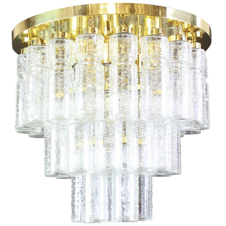 1 of 2 Large Limburg Glass Chandelier, Germany, 1960s