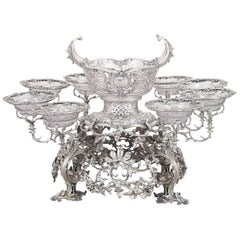 18th Century George II Silver Epergne by Thomas Gilpin