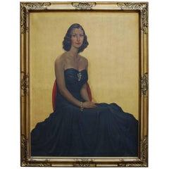 Alfred Schollaert Belgian Aristocrat Portrait Oil Painting