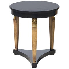Neoclassical Ebonized Side / End Table