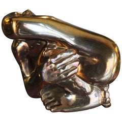 1975 Brass Sculpture Depicting a Stylized Human Body by Remo Gardeschi