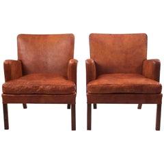 Pair of Kaare Klint Easy Chairs in Niger Leather