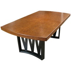 Paul Frankl 1940s Dining Table in Mahogany and Cork
