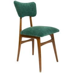20th Century Dark Green Velvet Chair, 1960s