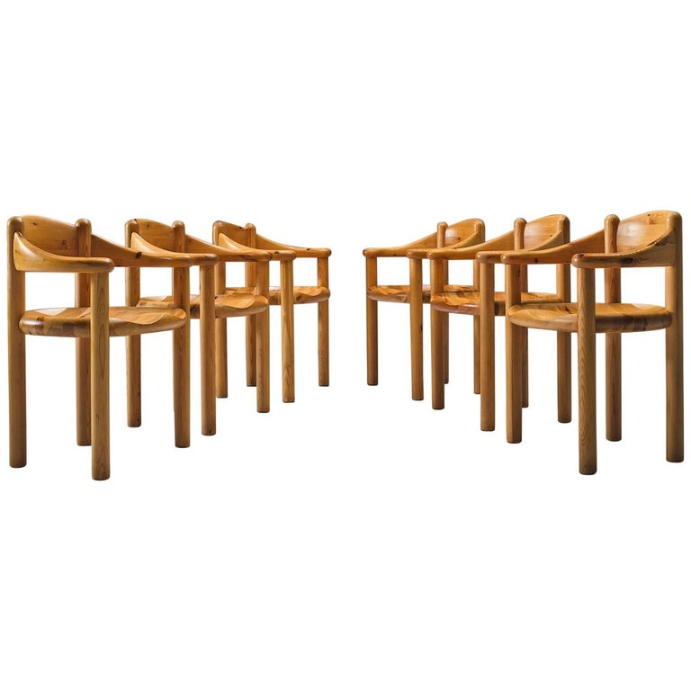 Rainer Daumiller Set of Six Pine Dining Chairs