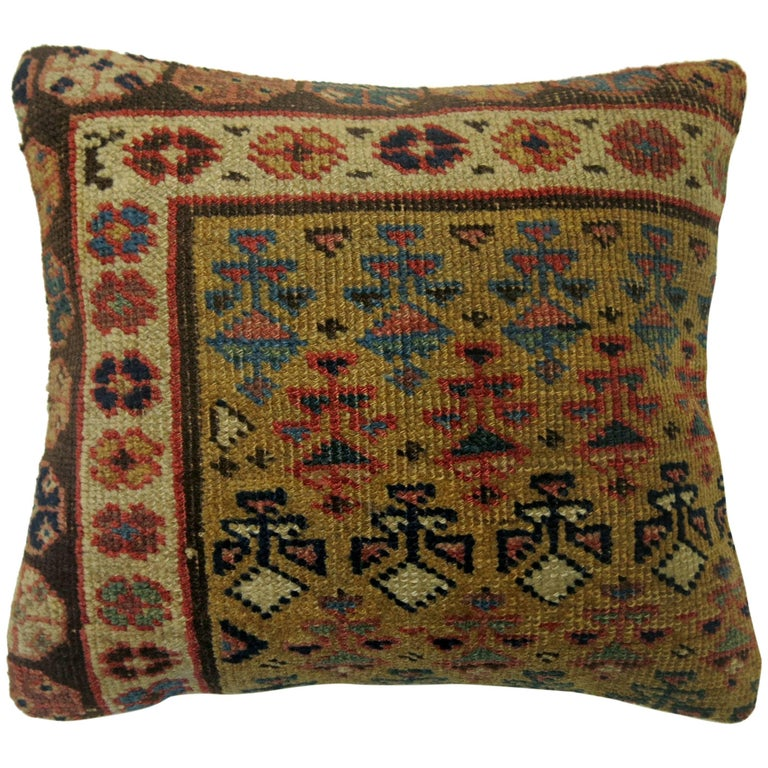 Caucasian Rug Pillow For Sale