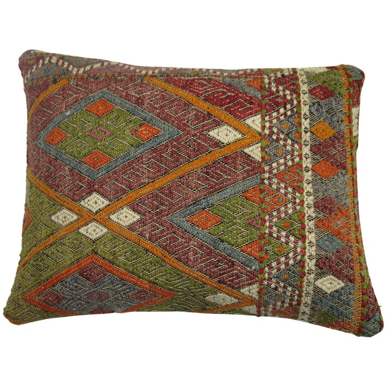 Turkish Flat-Weave Pillow For Sale
