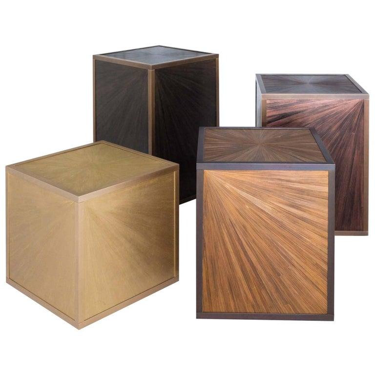 Set of Side Tables by Lison de Caunes and Ateliers Saint Jacques
