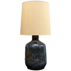 Danish 1960s Ceramic Table Lamp by Hanne