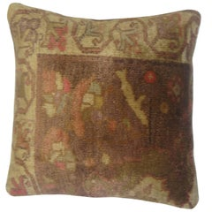 Turkish Anatolian Floral Rug Pillow