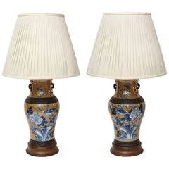 Pair of Chinese Ceramic Table Lamps