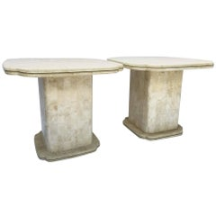 Maitland-Smith Tessellated Bone Fossil End Tables