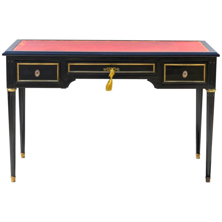Ebonized Louis XVI Style Desk in the Manner of Jansen