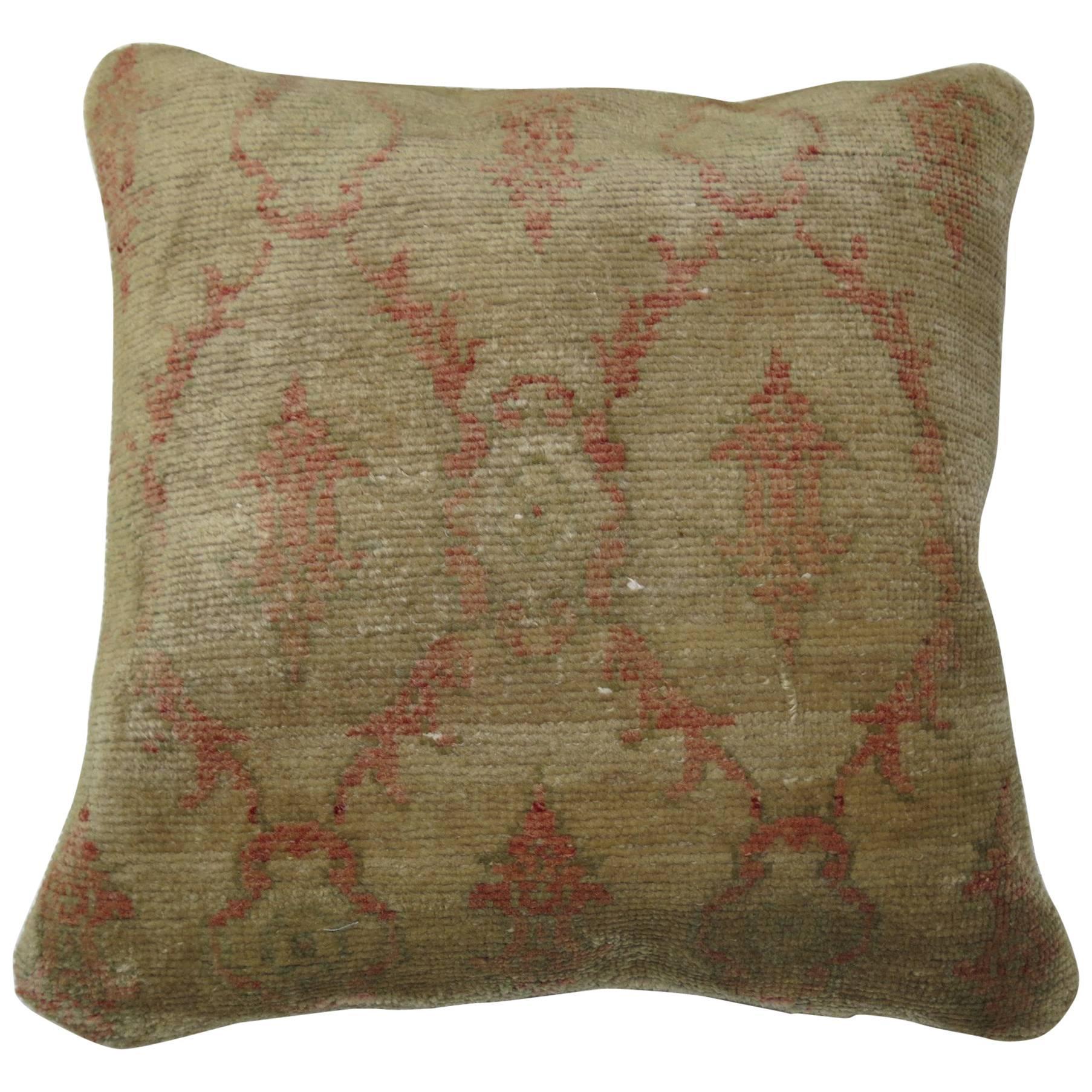Turkish Modernist Rug Pillow
