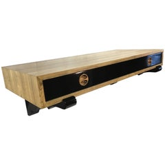 Harvey Probber Bleached Rosewood Wall Hanging Desk