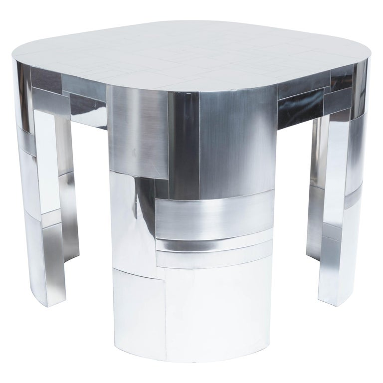 Chrome Plated Occasional Table by Paul Evans, Cityscape PE500 Series, 1975 For Sale