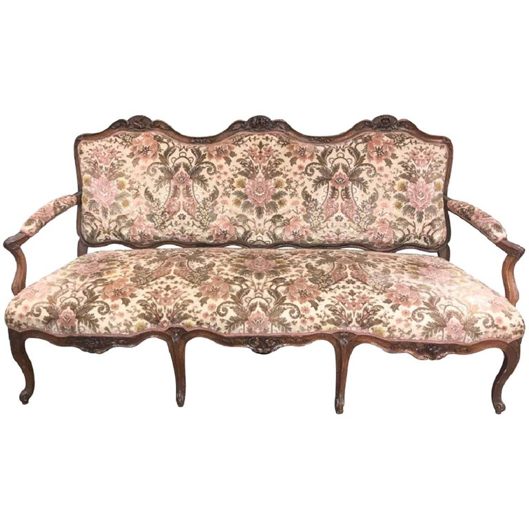 18th Century French Walnut Sofa