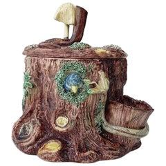 19th Century Majolica Palissy Tobacco Jar Thomas Sergent