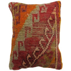 Boho Chic Vintage Turkish Rug Pillow