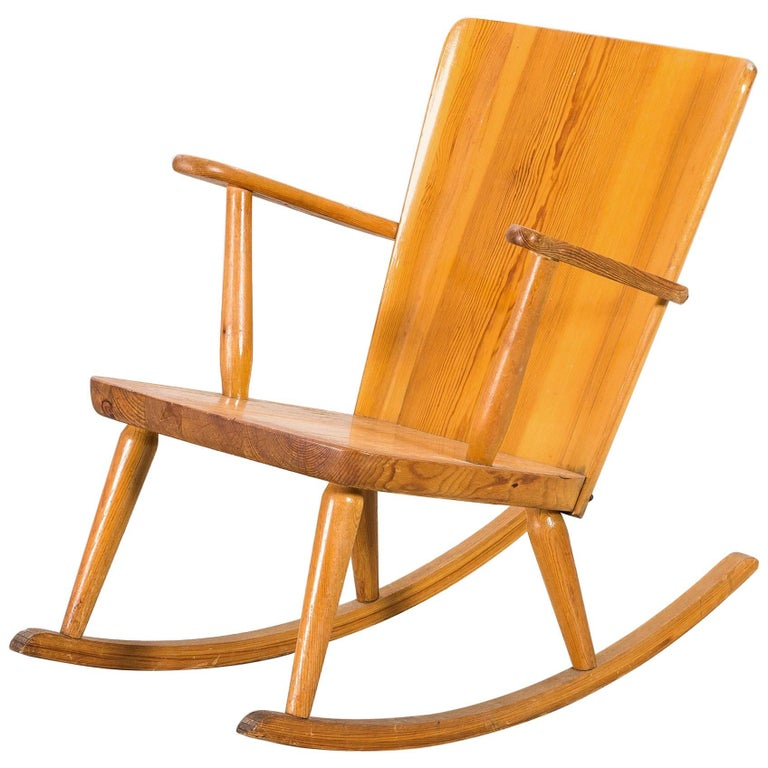 Goran Malmvall Rocking Chair, by Karl Andersson & Soner, Sweden, 1945 For Sale