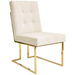 Goldfinger Linen and Brass Dining Chair