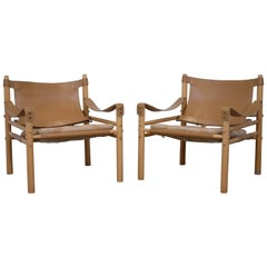"Pair of Arne Norell ""Sirocco"" Safari Chairs, 1964"