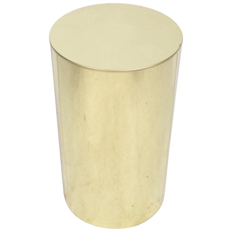 Signed C Jere Brass Drum End Or Side Table For Sale At Stdibs - Brass drum side table