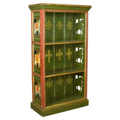 Antique Painted Bookcase, European, Scandinavian, Bookshelf, circa 1900