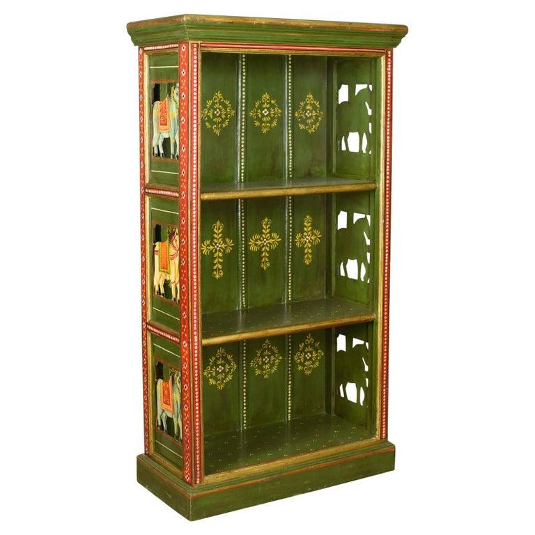 Antique Painted Bookcase European Scandinavian Bookshelf Circa 1900 For Sale