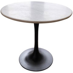 Mid-Century Modern End Table with Marble Top