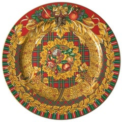 Rosenthal Versace Porcelain Charger Yuletide Cheer