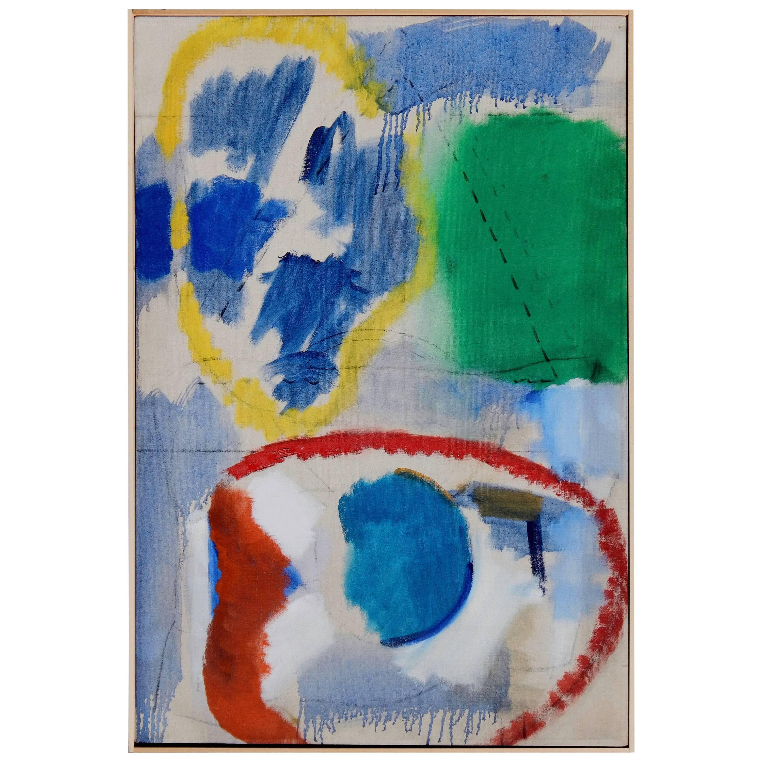 Fred Mitchell Original Abstract Expressionist Oil Painting, 1960