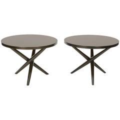 Wonderful Pair of T.H. Robsjohn-Gibbings Jacks Side Table for Widdicomb