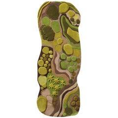Angela Adams Woodland, Forest Floor, Green Rug, Runner, Handcrafted, Modern