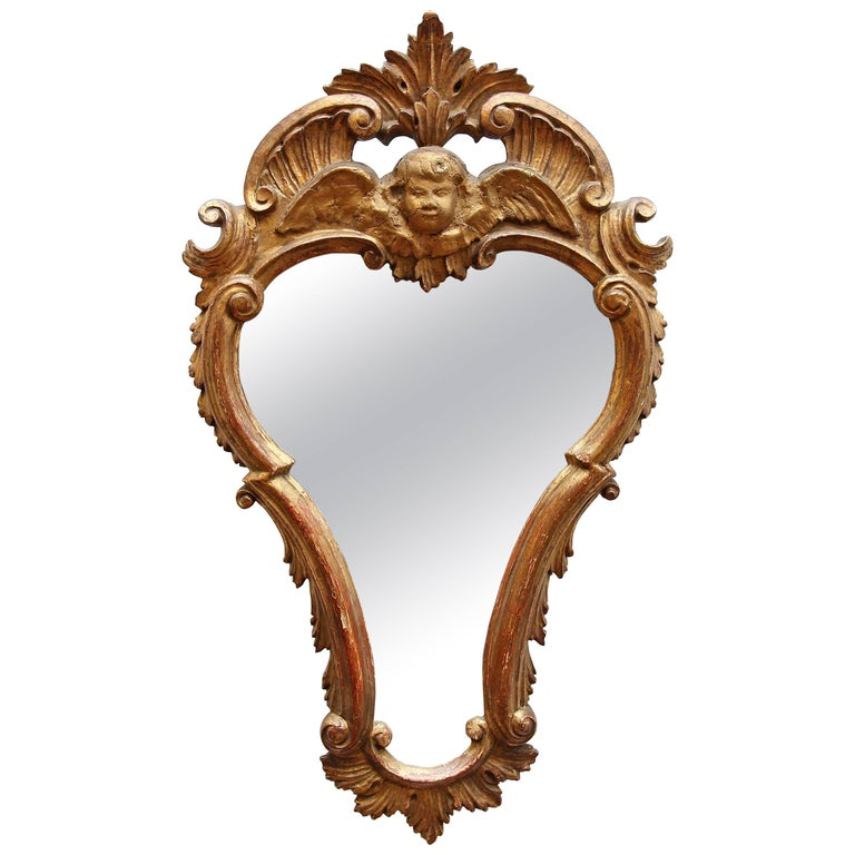 18th Century Italian Carved and Giltwood Mirror